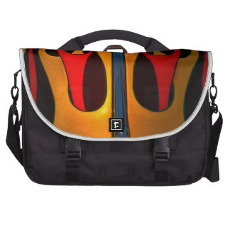 Classic Car Hood Flame Paint Commuter Bags