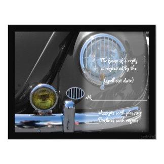 "classic car ii rsvp 4.25"" x 5.5"" invitation card"