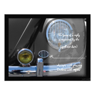 classic car ii rsvp personalized announcements