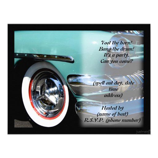 classic car iii party invite