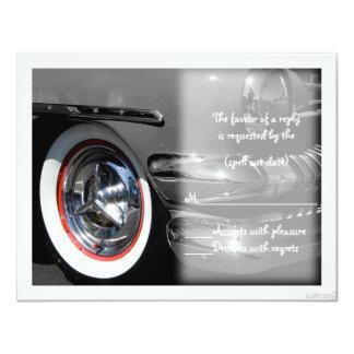 "classic car iii rsvp 4.25"" x 5.5"" invitation card"