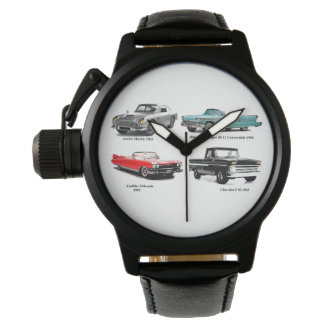 Classic car image  Crown-Protector-Black-Leather Watch