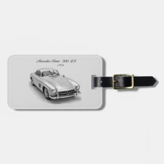Classic Car image for leather strap Luggage Tag