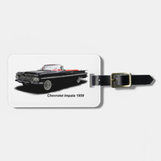 Classic Car image for Luggage Tag w/ leather strap