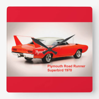 Classic Car image for Square-Wall-Clock Square Wall Clock