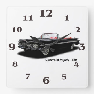 Classic Car image for Square-Wall-Clock Wallclocks