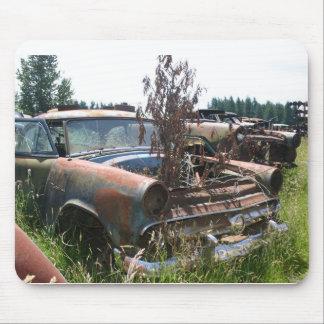 Classic Car In a Junkyard Mousepad
