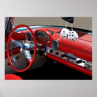 Classic Car Interior Poster