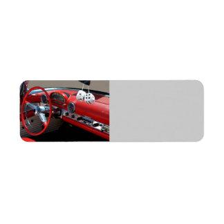 Classic Car Interior Return Address Label