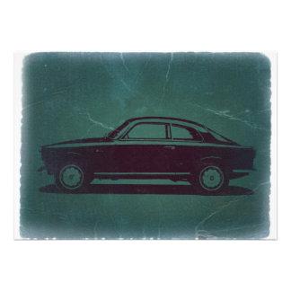 Classic car custom invites