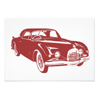 Classic Car Custom Invitation