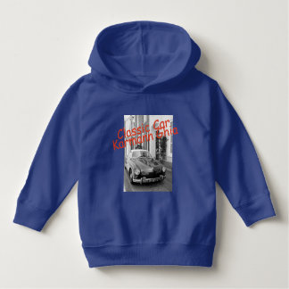 Classic car Karmann Ghia on royal blue Hoodie