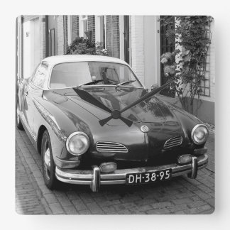 Classic car Karmann Ghia Square Wall Clock