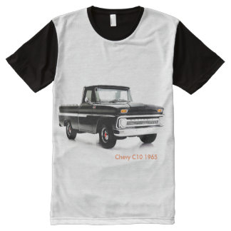 Classic car Men's-All-Over-Printed-Panel T-Shirt
