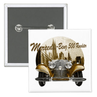 Classic Car Mercedes Benz 500 Roadster 2 Inch Square Button