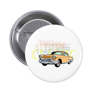 Classic car, old Chevrolet Bel Air in brown 2 Inch Round Button