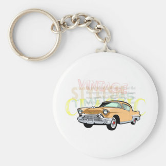 Classic car, old Chevrolet Bel Air in brown Keychain