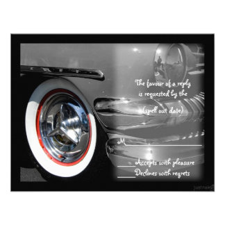 classic car rsvp personalized announcement