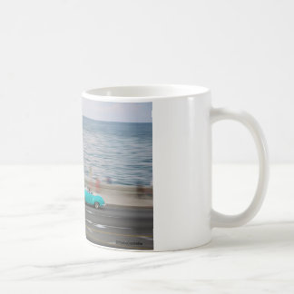 Classic car speeding coffee mug