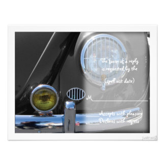 classic car v rsvp custom invites