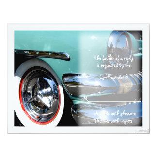"classic car vi rsvp 4.25"" x 5.5"" invitation card"