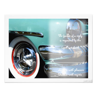 classic car vi rsvp custom invitation