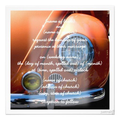 classic car viii Invitation