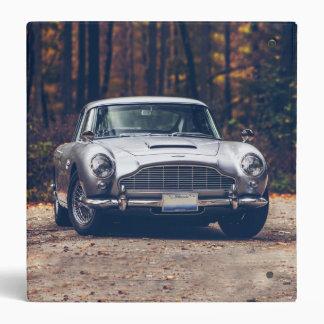 Classic car vintage retro,silver 3 ring binders