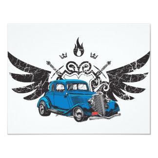 "Classic Car Wings 4.25"" X 5.5"" Invitation Card"