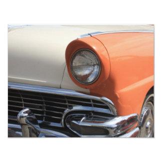 "Classic Cars 4.25"" X 5.5"" Invitation Card"
