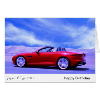 Classic Cars birthday greeting card