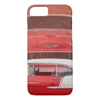 Classic Cars Chevy Bel Air Dodge Red White Vintage iPhone 8/7 Case