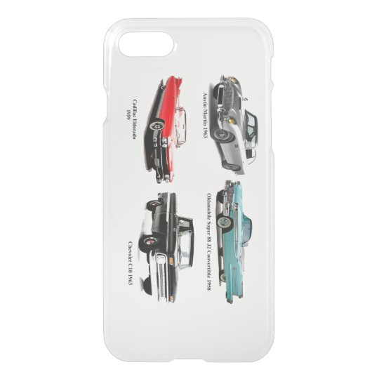 Classic Cars for iPhone-7-Clearly-Deflector-Case iPhone 8/7 Case