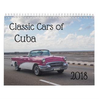 Classic cars of cuba calendar