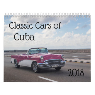 Classic cars of cuba wall calendars