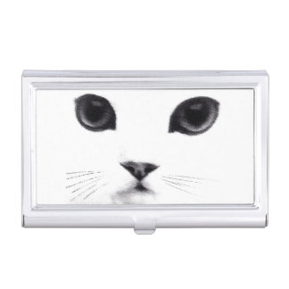Classic Cat Face Business Card Holder