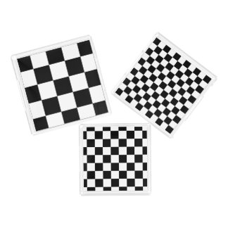 Classic Checkered I Bleed Racing Check Black White Serving Tray