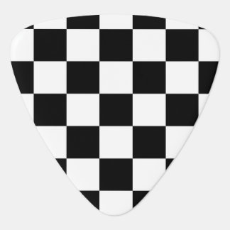 Classic Checkered Racing Check Black and White Pick