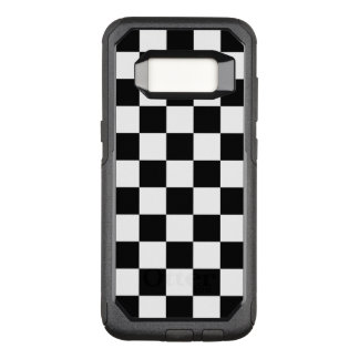 Classic Checkered Racing Flag Check Black White OtterBox Commuter Samsung Galaxy S8 Case