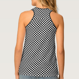 Classic Checkered Racing Flag Check Black White Tank Top