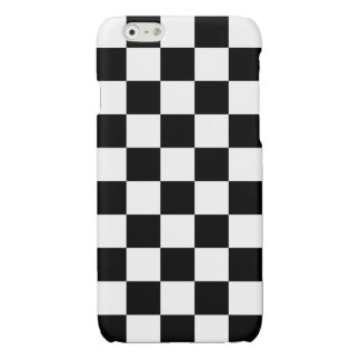 Classic Chequered Racing Check Black White Sport