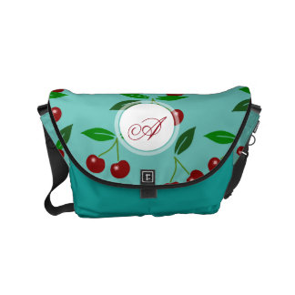 Classic Cherry Fruit and Leaf Monogram Bag 3 Commuter Bags
