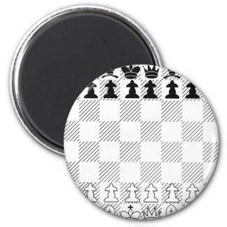 Classic chess board 2 inch round magnet