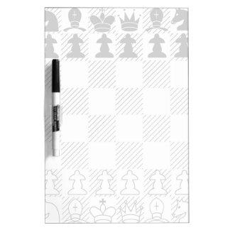 Classic chess board dry erase whiteboard