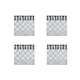 Classic chess board stone magnets