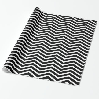Classic Chevron Pattern Black and White Wrapping Paper