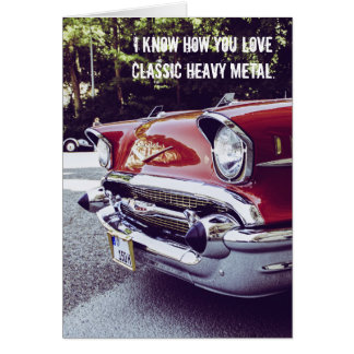 Classic Chevy Heavy Metal Birthday Card