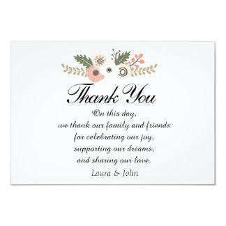 Classic Chic wedding thank you card