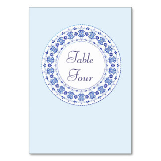 Classic China Blue Table Name / Number Cards