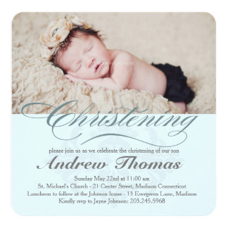 Classic Christening Baptism Invitation